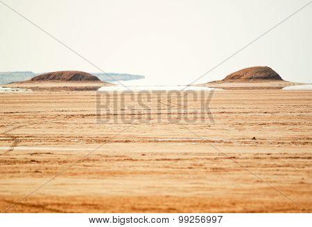 Mirage In Sahara Desert, Tunisia