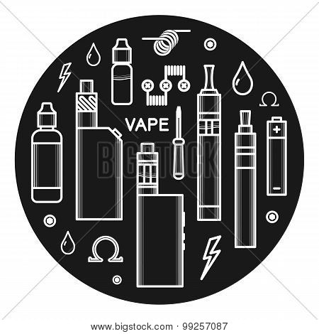 Vector Icons Of Vape