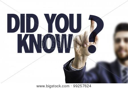 Business man pointing the text: Did You Know?