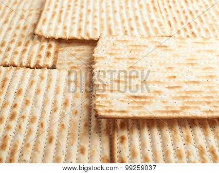 Surface covered with matza flatbread
