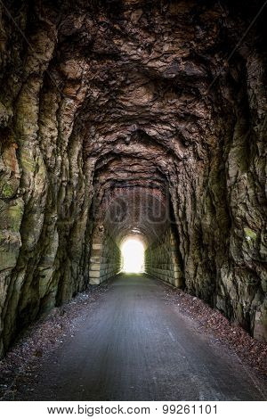 light at the end of the tunnel - MKT Katy Trail at Rocheport, Missouri. The Katy Trail is 237 mile bike trail stretching across most of the state of Missouri converted from an old railroad.