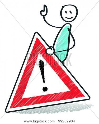 An image of a warning sign with a stick man