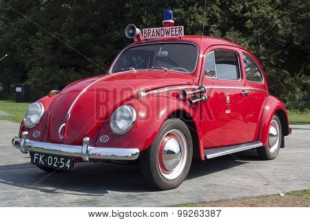 Red Fire Brigade Volkswagen Beatle