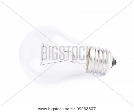 Single electric bulb isolated