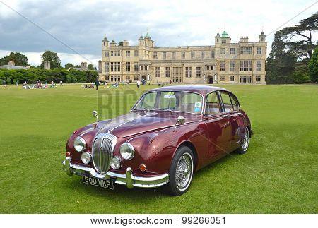 Classic Red Daimler 250 V8