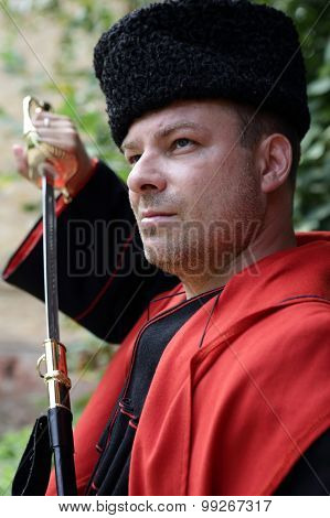 Kuban Cossack Holding A Saber