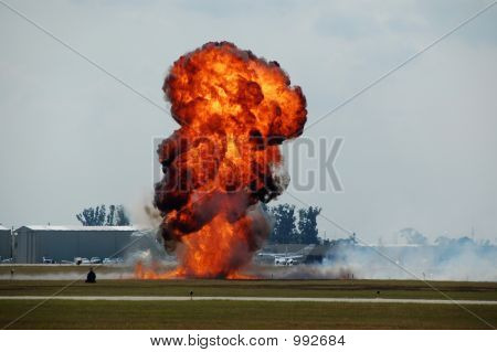 Large Explosion At Airport