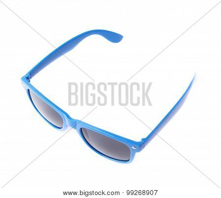 Dark plastic sunglasses isolated