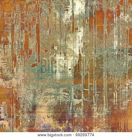 Grunge retro vintage textured background. With different color patterns: yellow (beige); brown; red (orange); cyan