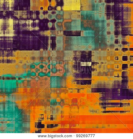Old texture as abstract grunge background. With different color patterns: yellow (beige); brown; red (orange); purple (violet); blue