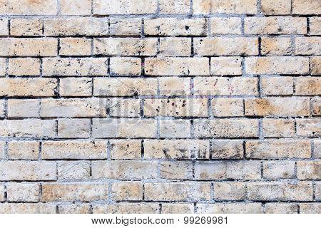 Weathered dirty brick wall background