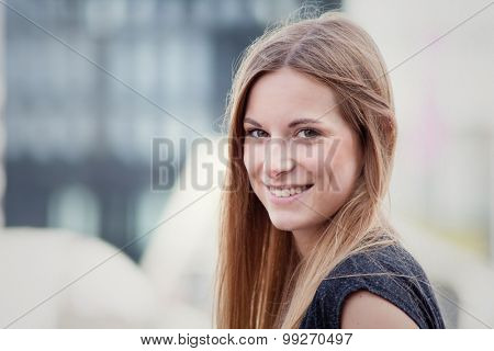 Face of an attractive young woman