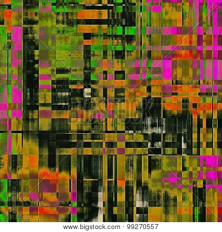 Abstract grunge background or old texture. With different color patterns: yellow (beige); purple (violet); green; black