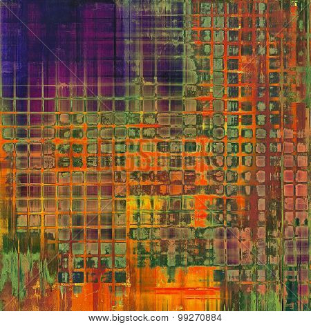 Rough grunge texture. With different color patterns: brown; red (orange); purple (violet); green