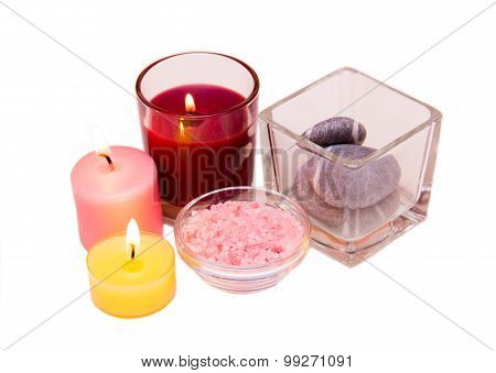 Candles and bath salts