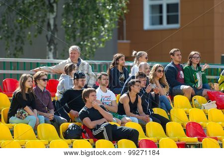 Spectators On Tribunes