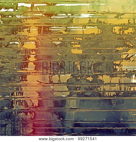 Vintage spotted textured background. With different color patterns: yellow (beige); brown; purple (violet); green