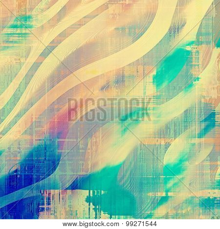Antique vintage texture or background. With different color patterns: yellow (beige); blue; pink; cyan