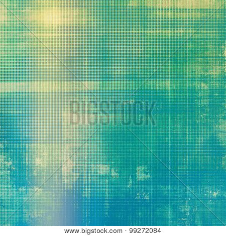 Old, grunge background texture. With different color patterns: yellow (beige); green; blue; cyan