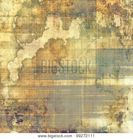 Old, grunge background texture. With different color patterns: yellow (beige); brown; gray; green