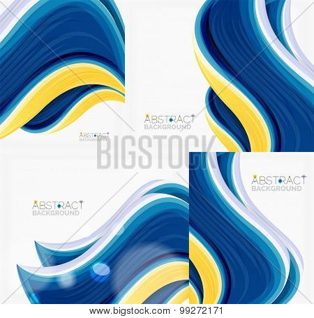 Abstract realistic solid wave background.  illustration