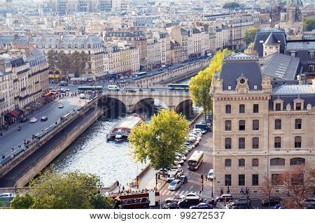 Pont Neuf Bridge View From Notre Dame