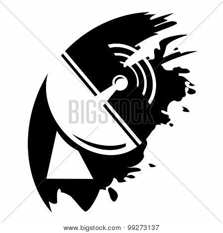Radio Radar Transmitting Signal - Vector Icon Isolated