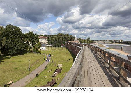 Battle progress Novgorod Kremlin. Velikiy Novgorod. Russia.