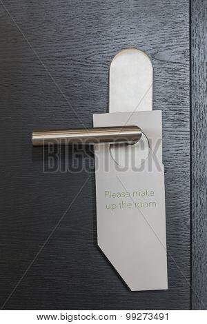 Hotel Door Sign Make Up Room