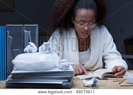Student Preparing To Exam