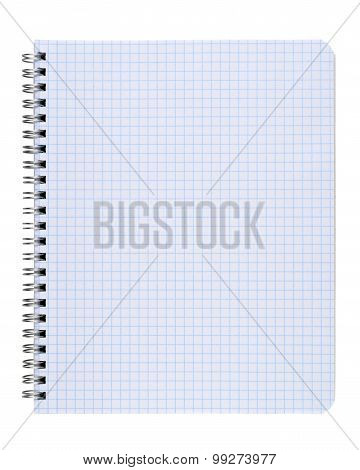 Copybook Isolated On White Background