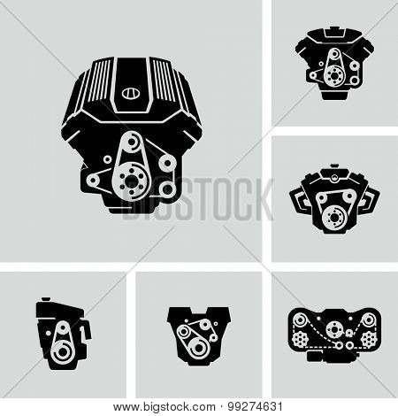 Vector Car Engine Icons