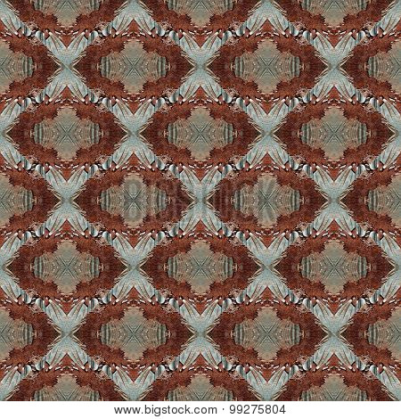 Seamless painted rusty metal pattern.
