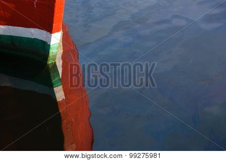 Red Boat On Water