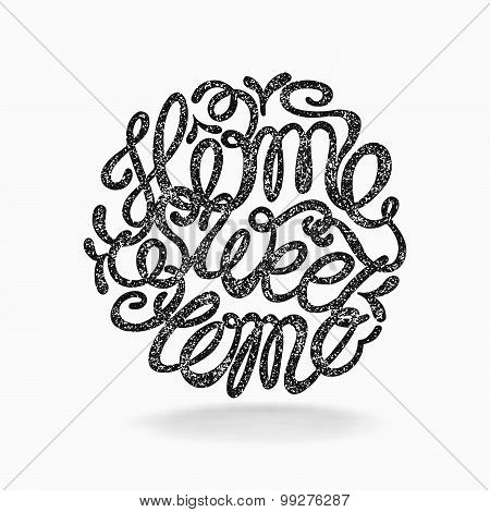 Calligraphic Hand Drawn  Lettering Vector Poster