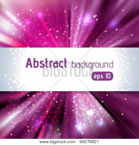 Purple Abstract Explosion. Eps 10 Vector File Included