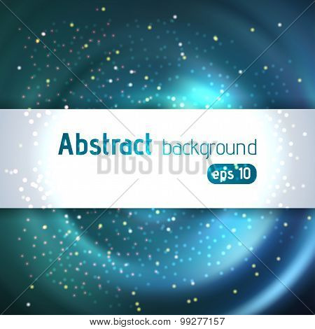 Blue Abstract Background With Place For Text
