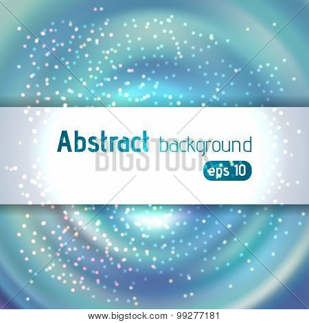 Blue Abstract Light Background With Place For Text