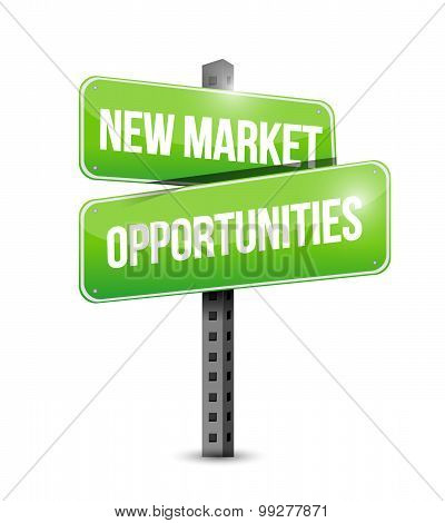 New Market Opportunities Road Sign Concept