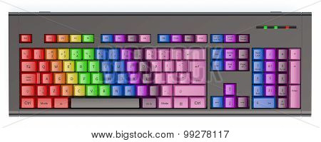 Colored Learning Keyboard