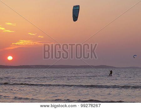 Evening surfer.
