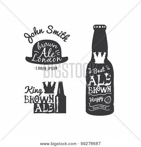 Beer logo set