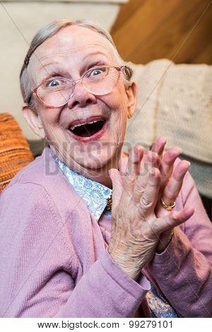 Joyful Old Woman