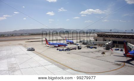 Boeing-737 Of Southwest Airlines In Sky Harbor, Az