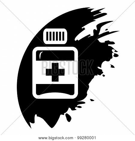 Pills, Medication Vector Black Icons