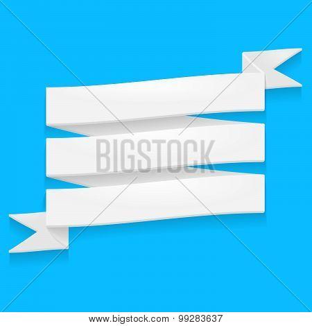 Detailed white ribbon