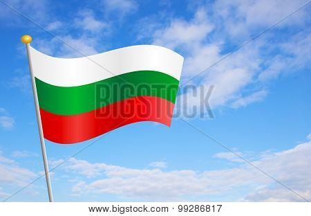 Bulgarian Flag Against Sky