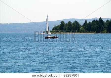 Sailboat Near Harbor Point