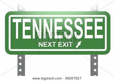 Tennessee Green Sign Board Isolated