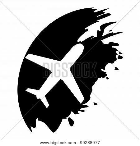 Airplane - Black Blot Pointer